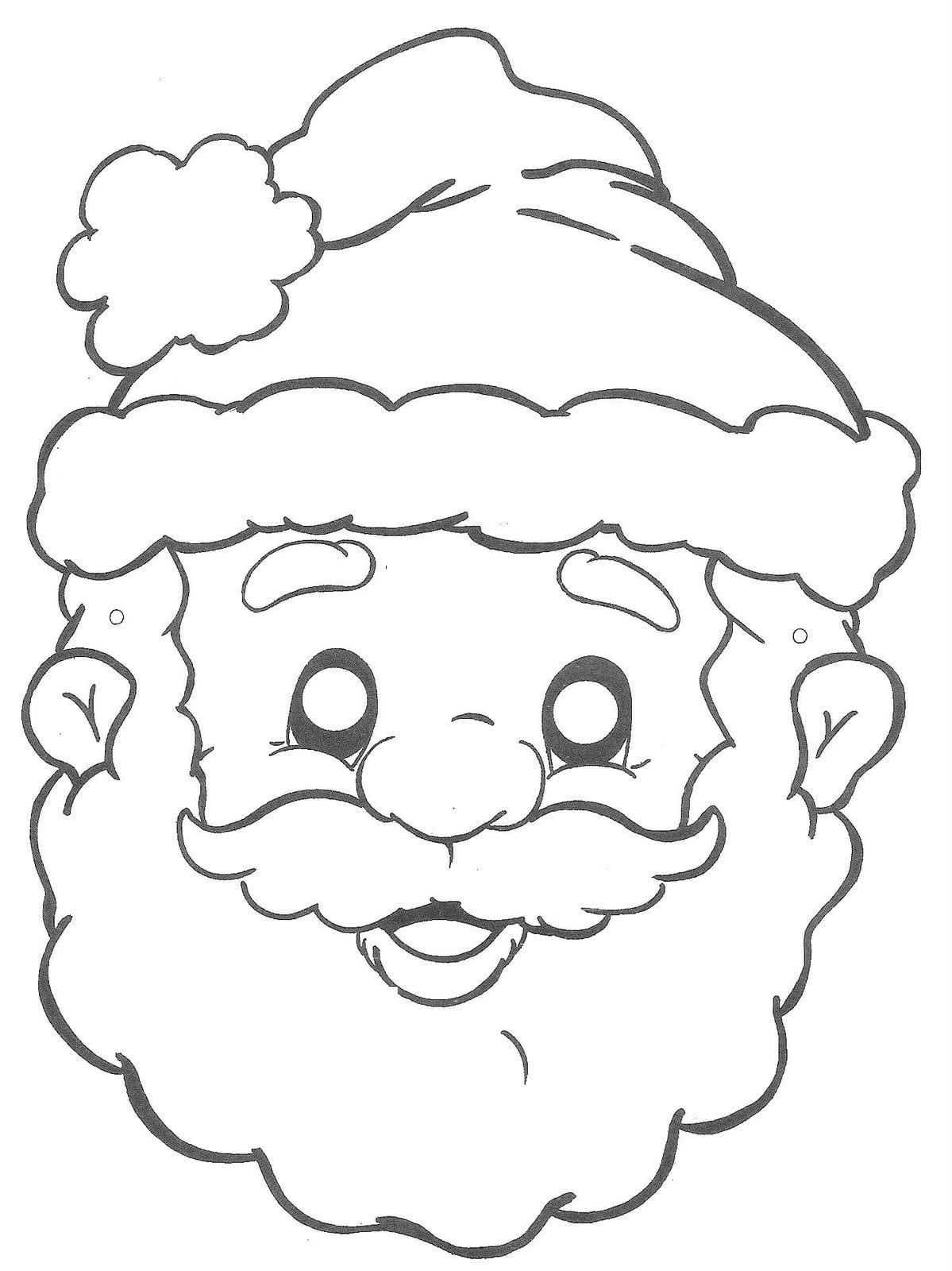 30 Desenhos De Papai Noel Para Colorir
