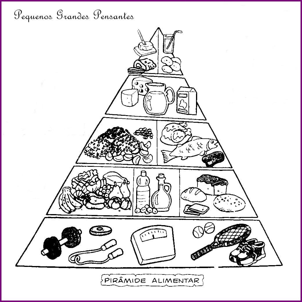 Alimentos Para Colorir E Recortar Piramide Alimentar Para Imprimir