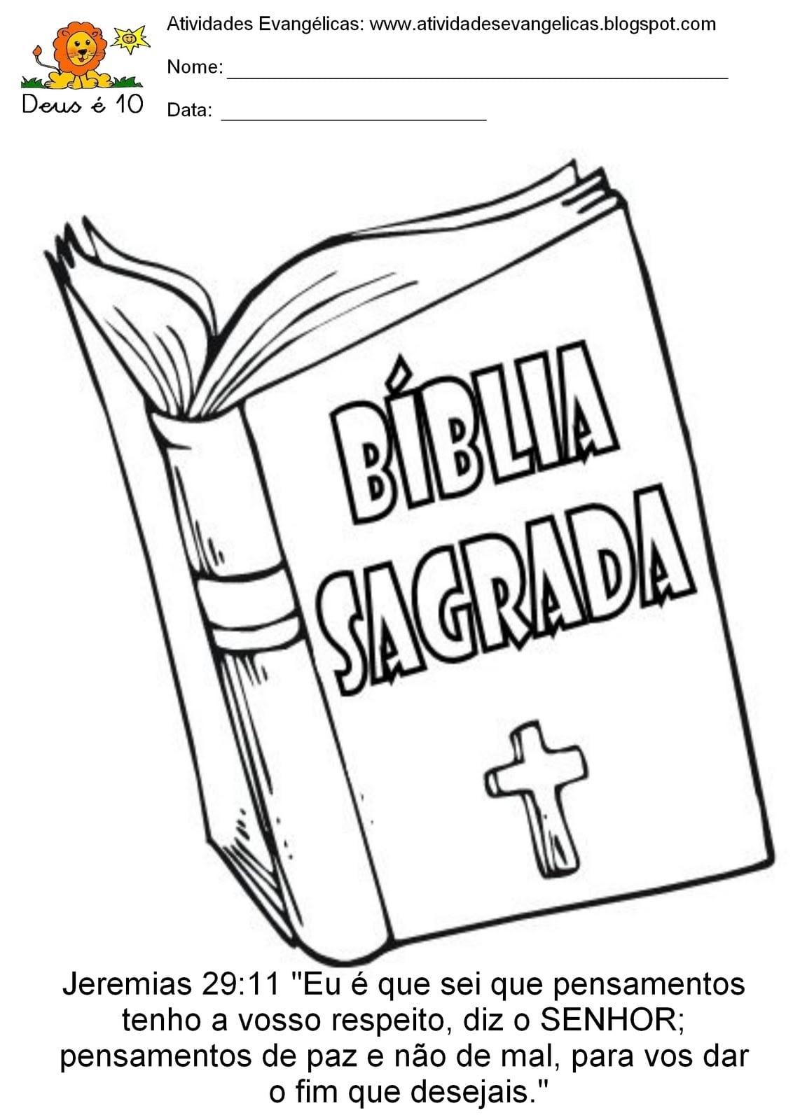 Atividades Evangélicas  Atividades Para Colorir