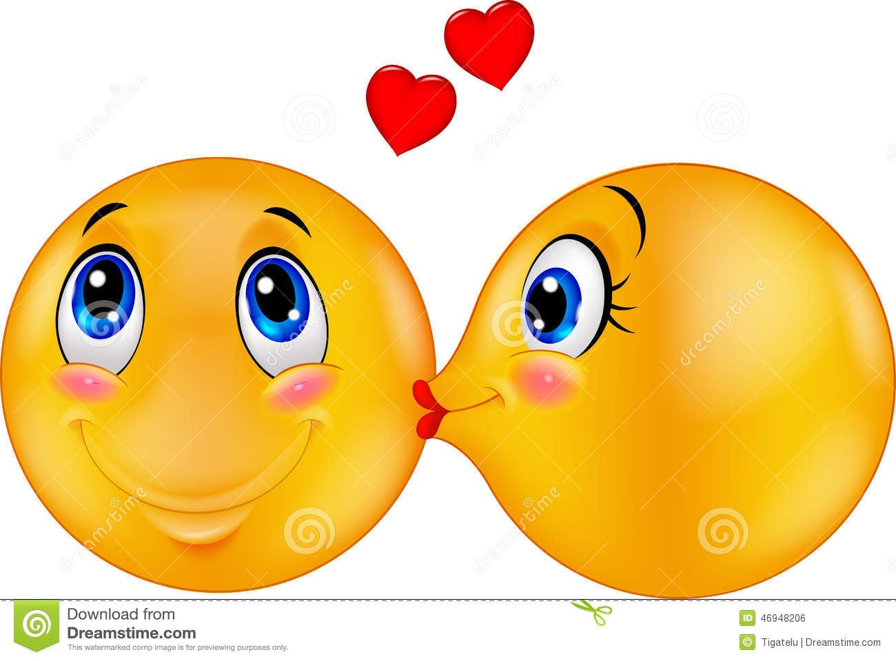 Beijo Dos Desenhos Animados Do Amor Fotos De Stock – 544 Beijo Dos