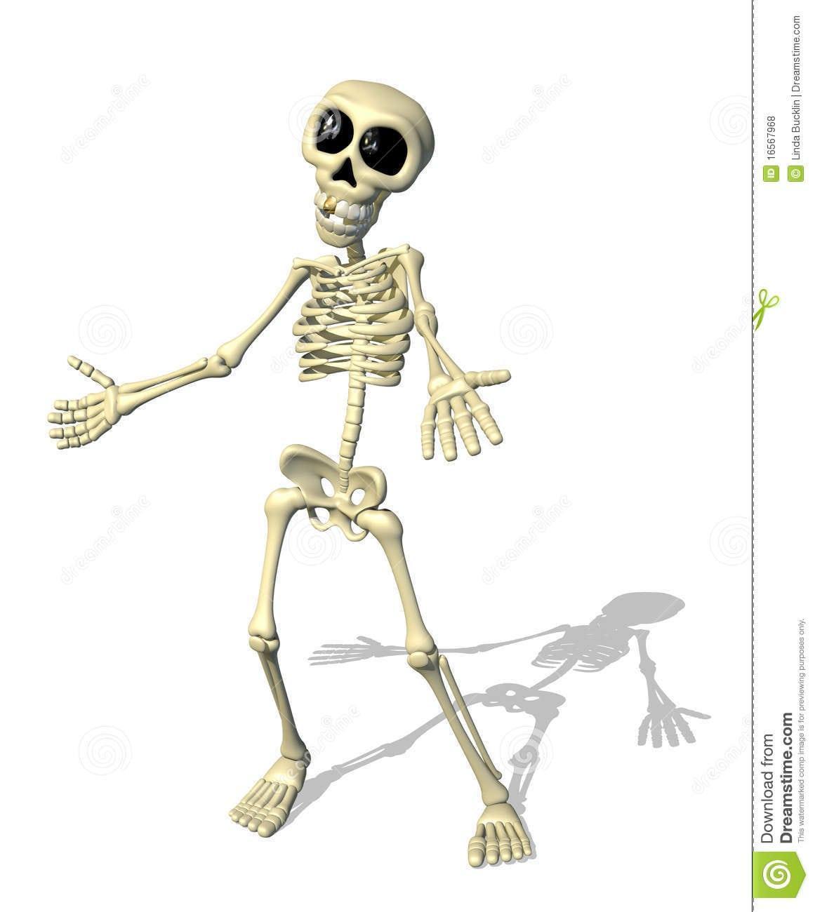 Boa Vinda Do Esqueleto Dos Desenhos Animados Fotos De Stock