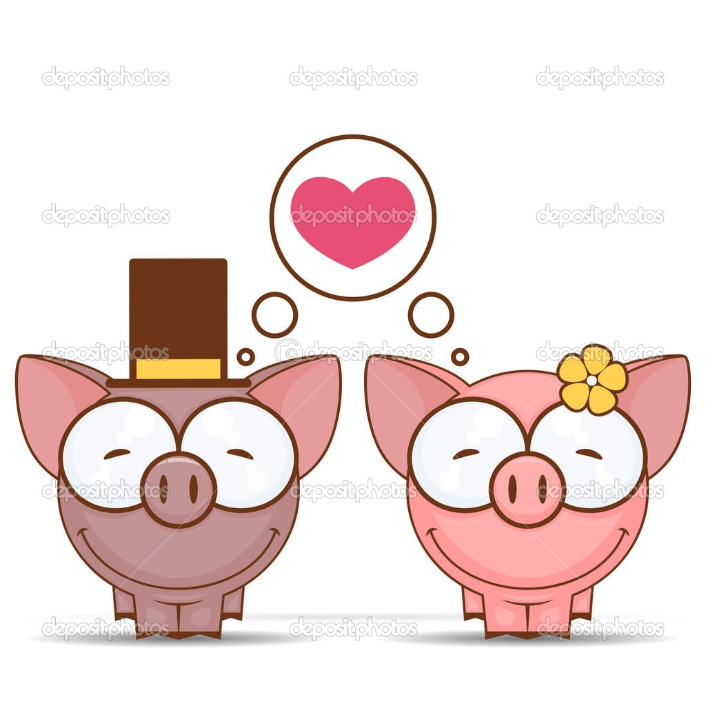 Cartão De Dia Dos Namorados Com Personagens De Desenhos Animados
