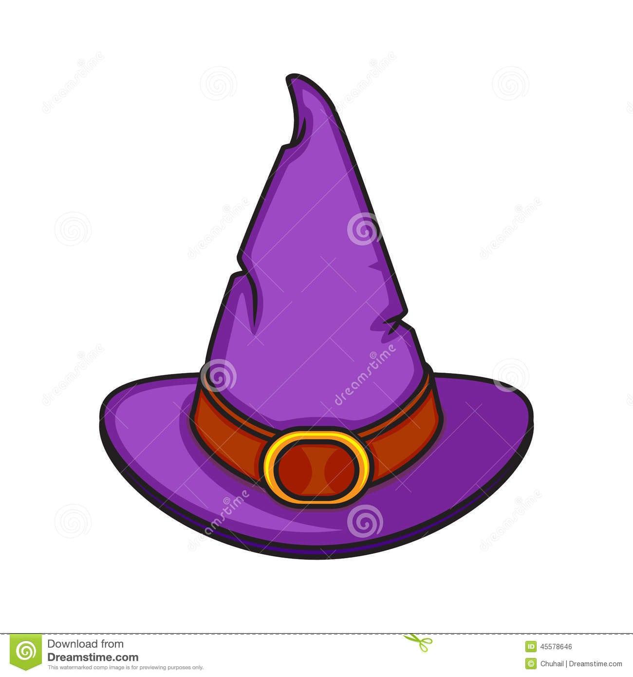 Chapéu Da Bruxa Dos Desenhos Animados De Dia Das Bruxas Isolado No