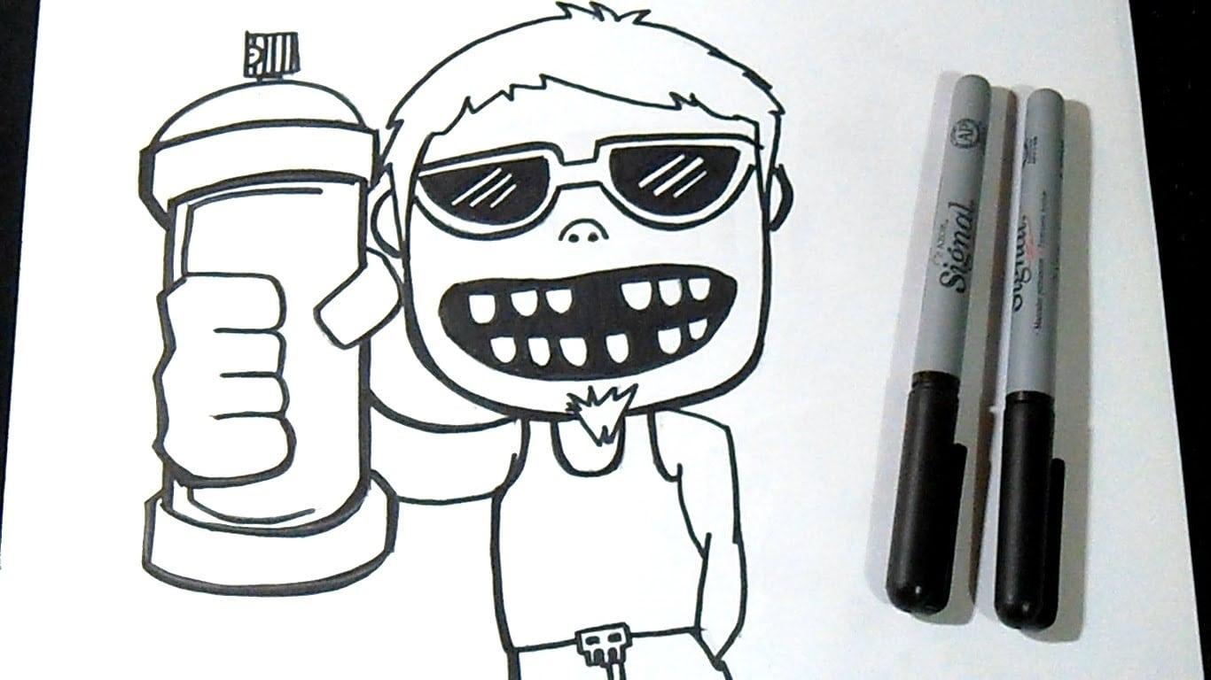 Como Desenhar Personagem Com Aerossol Grafite