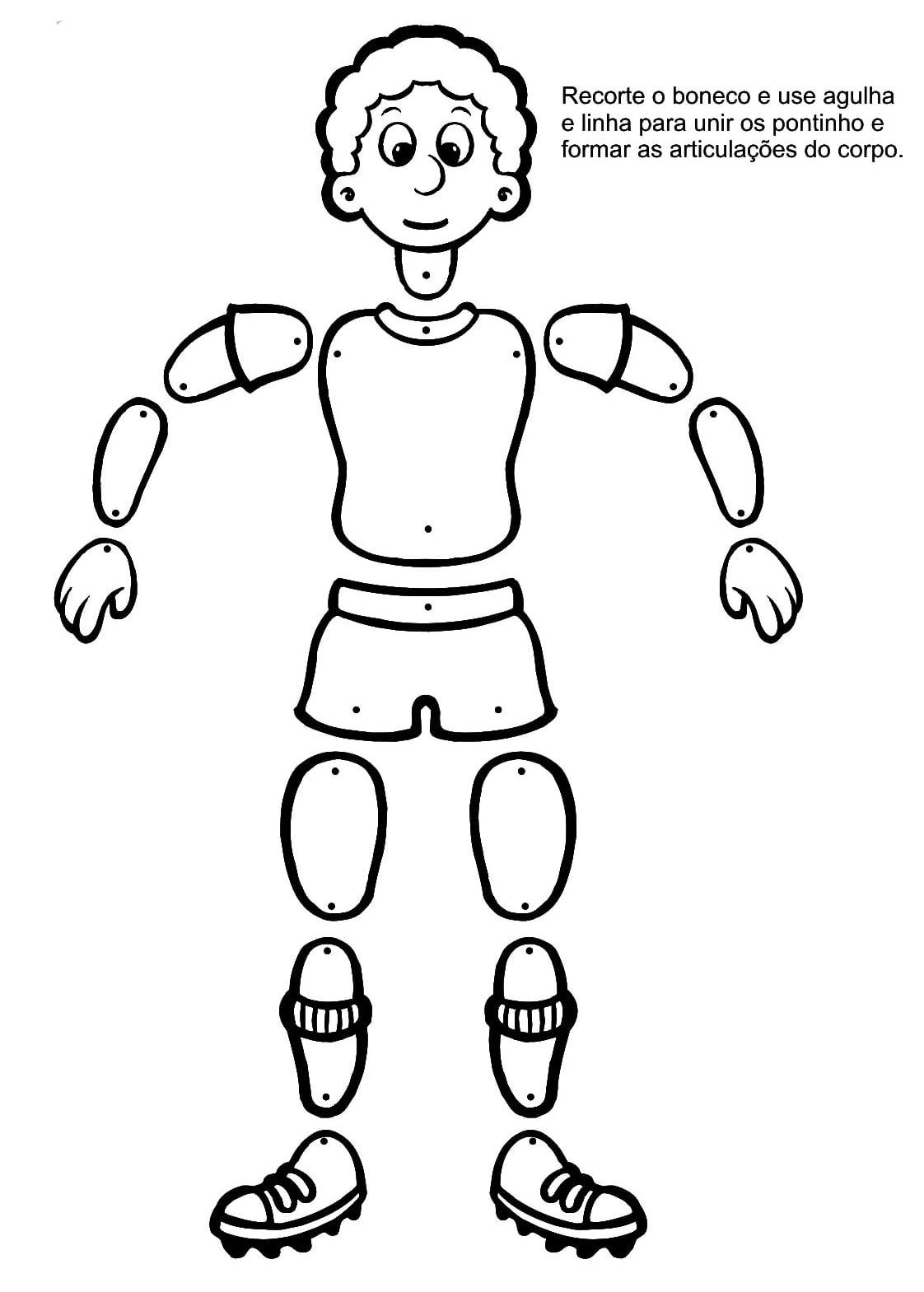 Corpo Humano Para Colorir