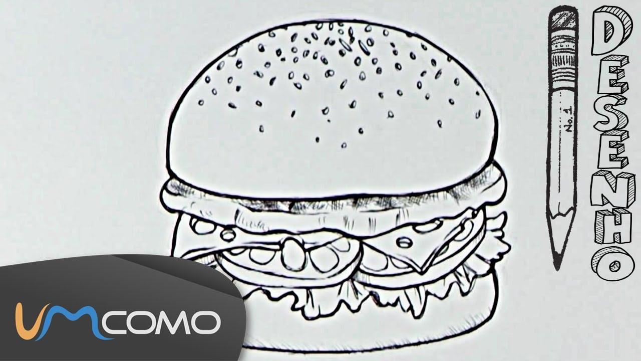Desenhar Um Hambúrguer De Forma Fácil