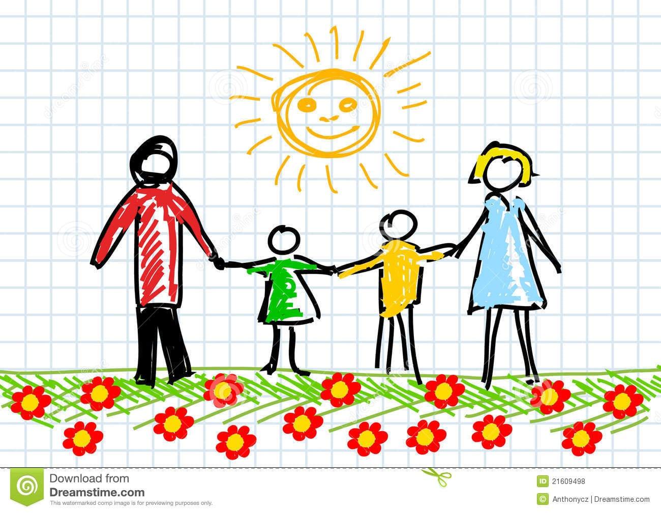 Desenho Da Família Fotos De Stock Royalty Free