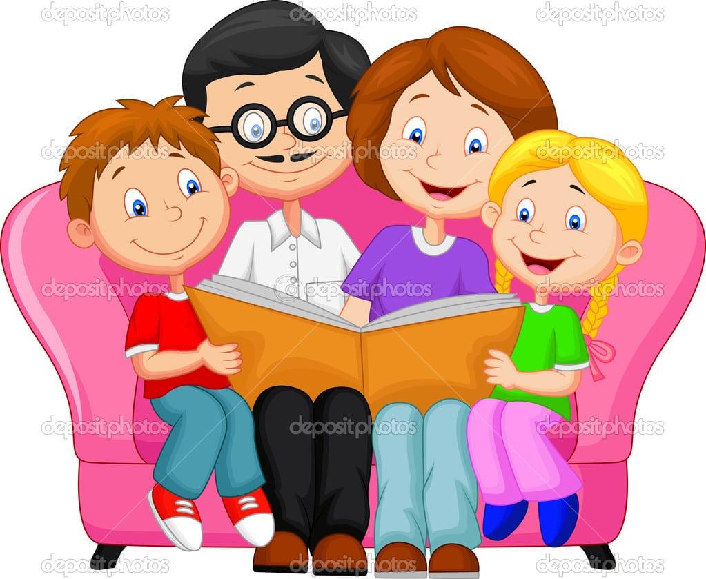 Desenho De Família Feliz — Vetor De Stock © Tigatelu  42242011