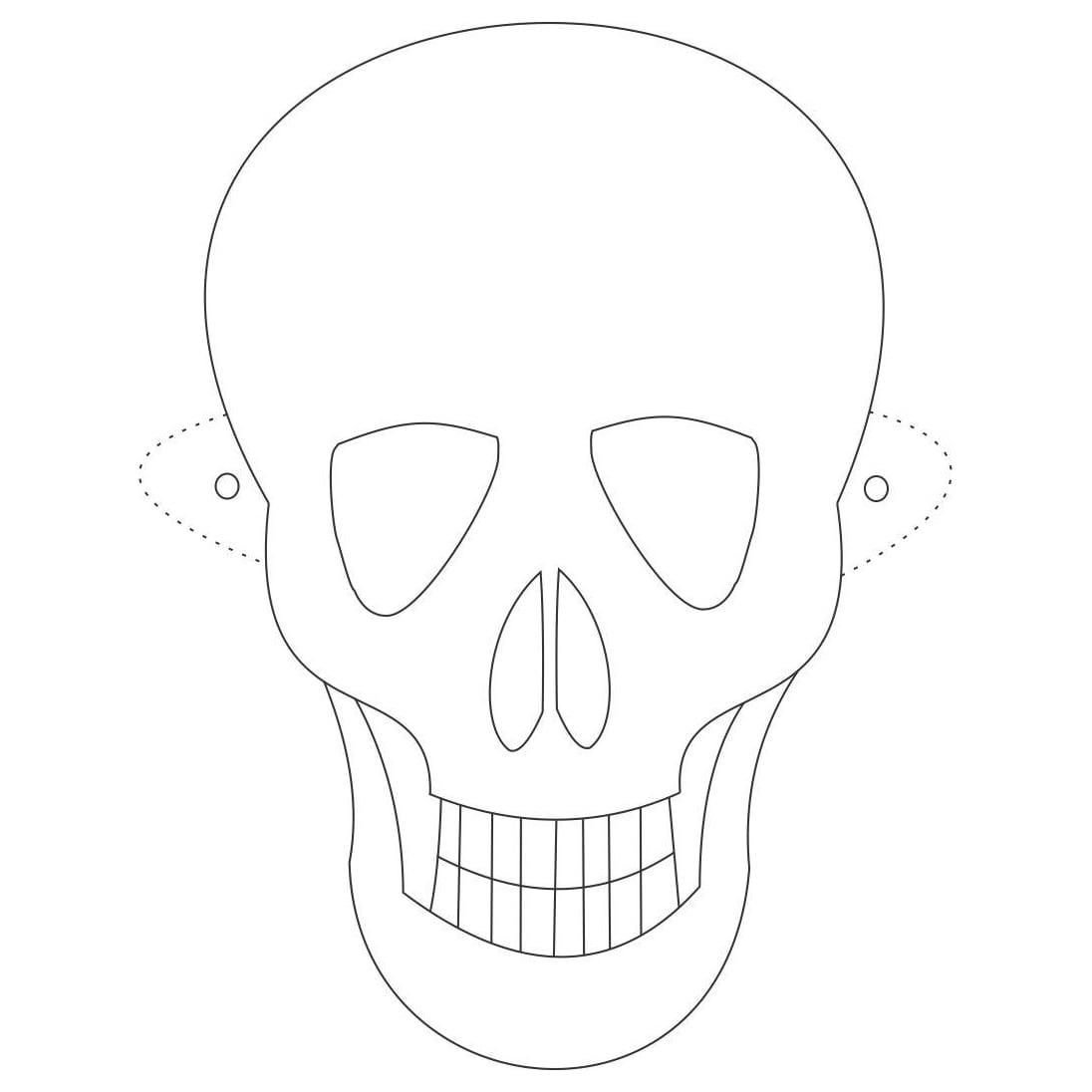 Desenho De Máscara De Caveira Para Colorir