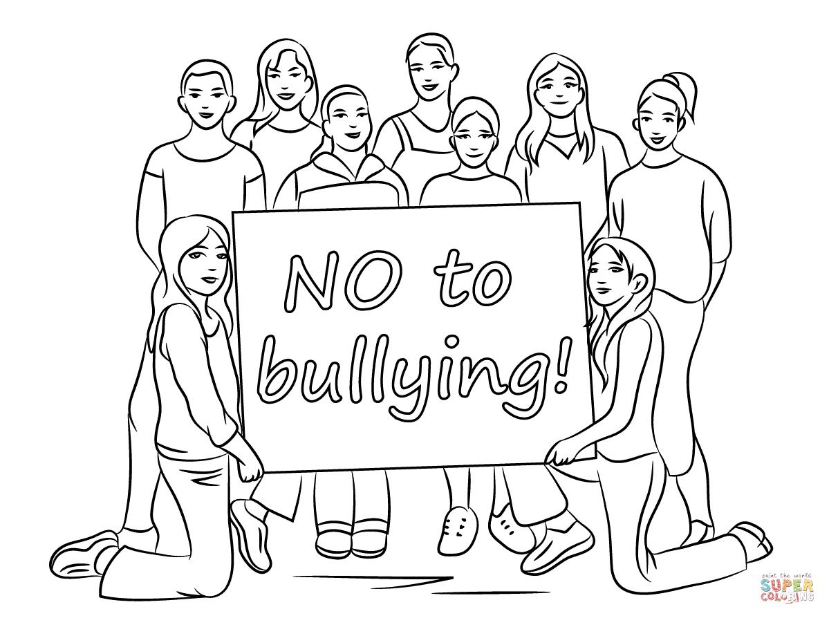 Desenho De Não Ao Bullying Para Colorir