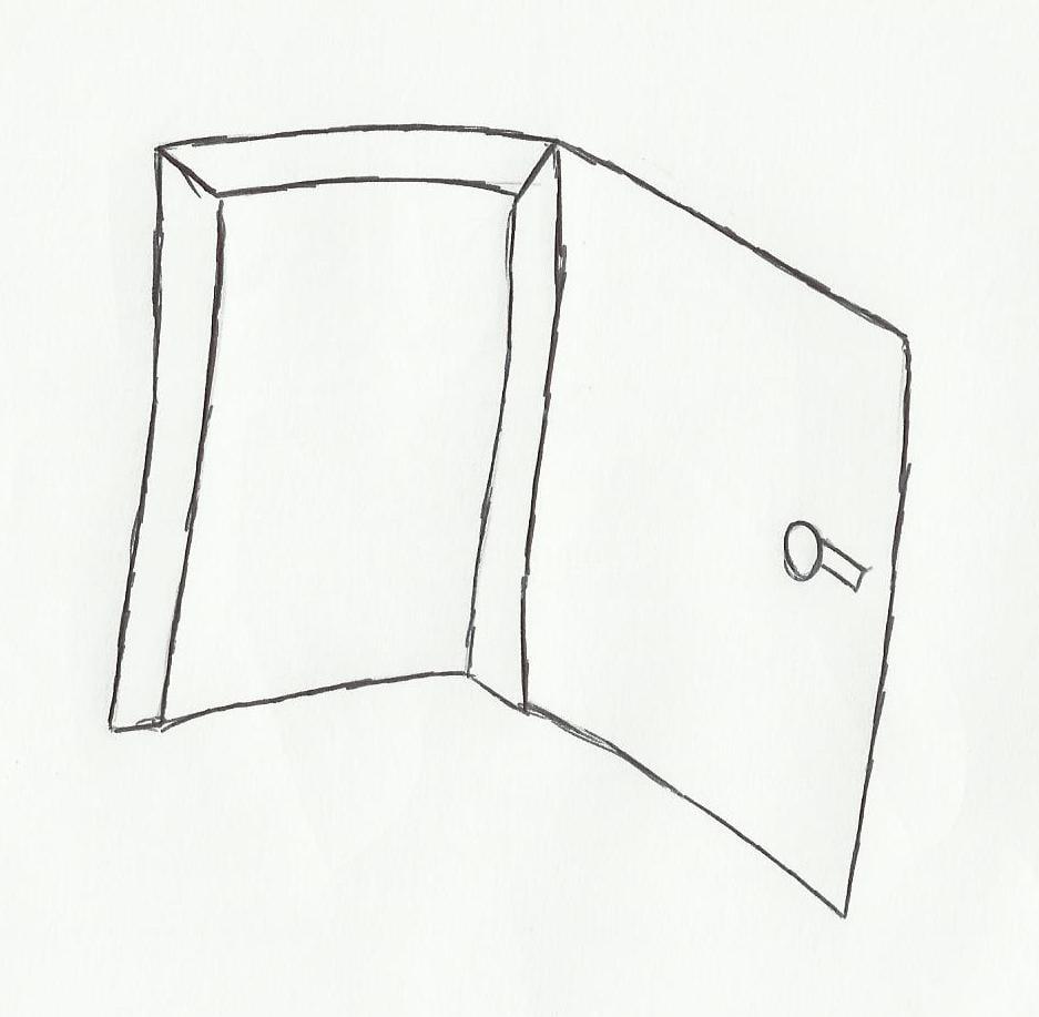 Desenho De Porta Aberta Para Colorir