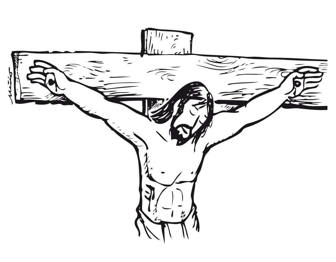 Desenho De Rosto De Jesus Na Cruz Para Colorir