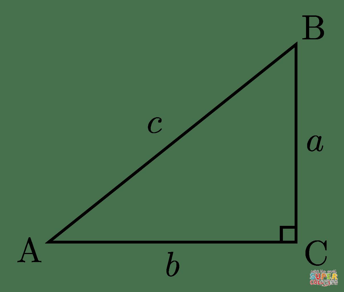 Desenho De Triângulo Retângulo Para Colorir