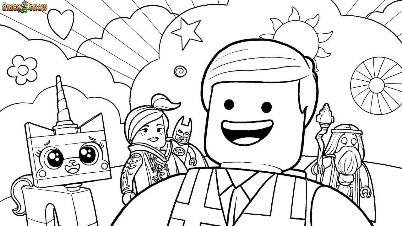 Desenho De Uma Aventura Lego Para Colorir
