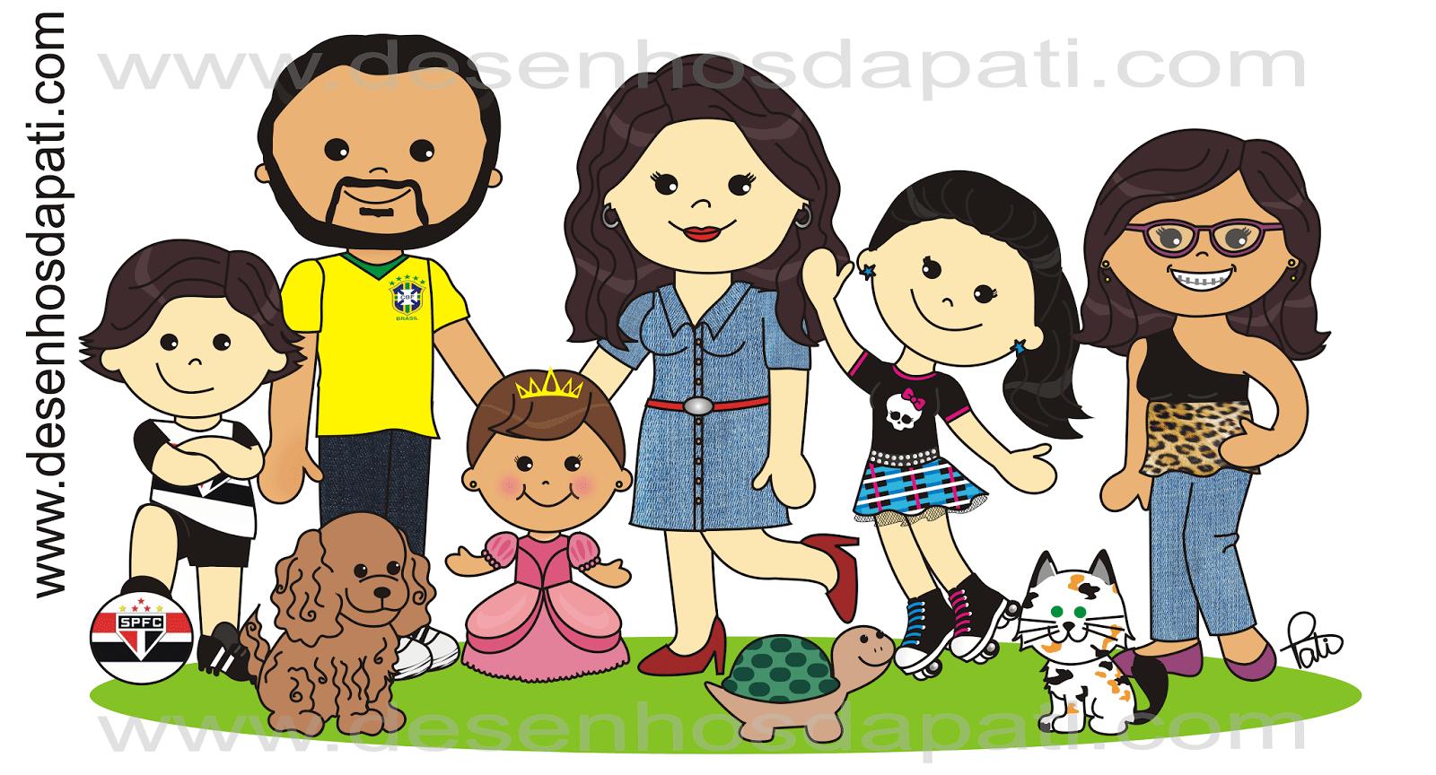 Desenhos Da Pati  Desenho De Família Carikinha  3