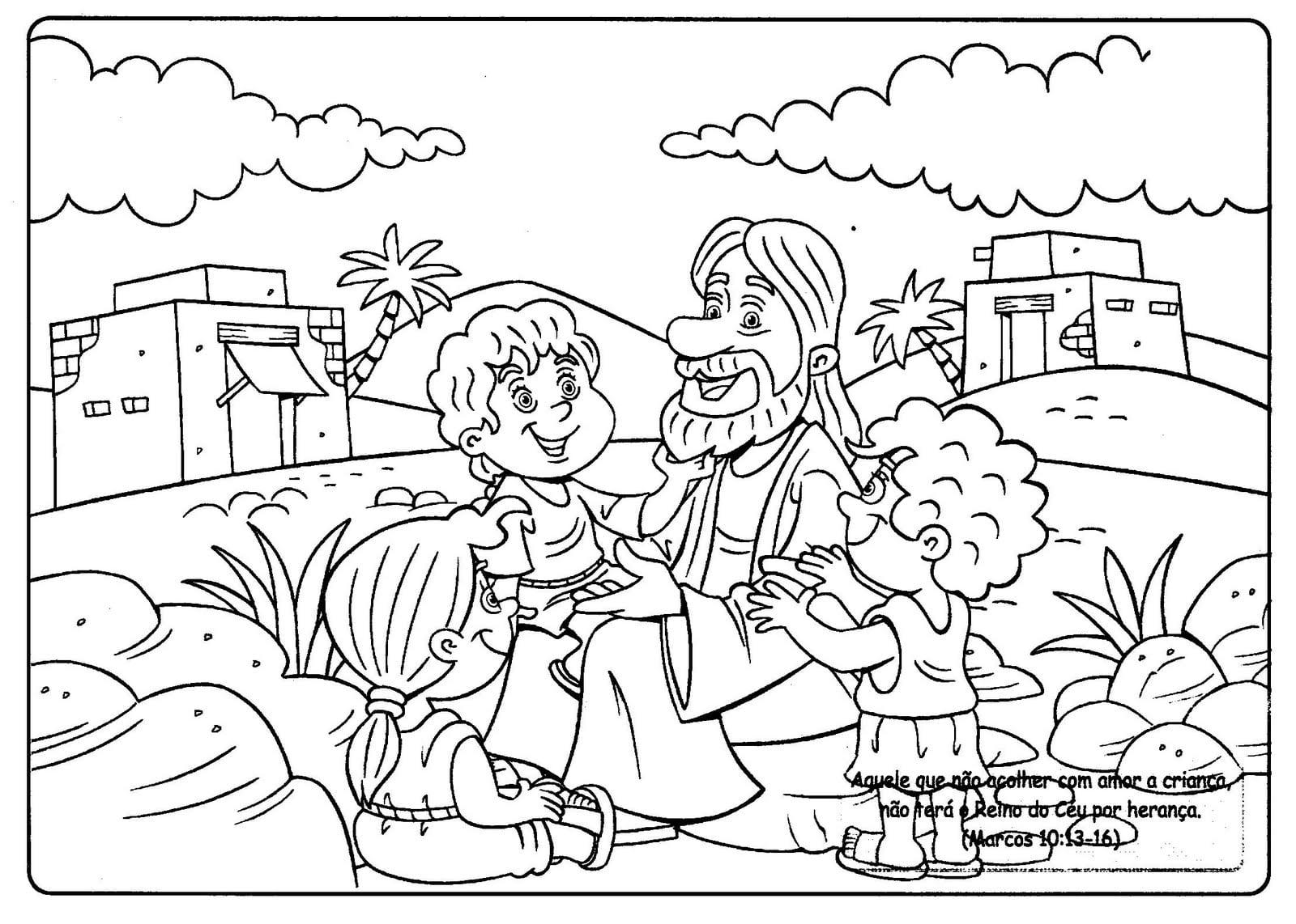 Desenhos Para Colorir De Jesus Sketch Coloring Page