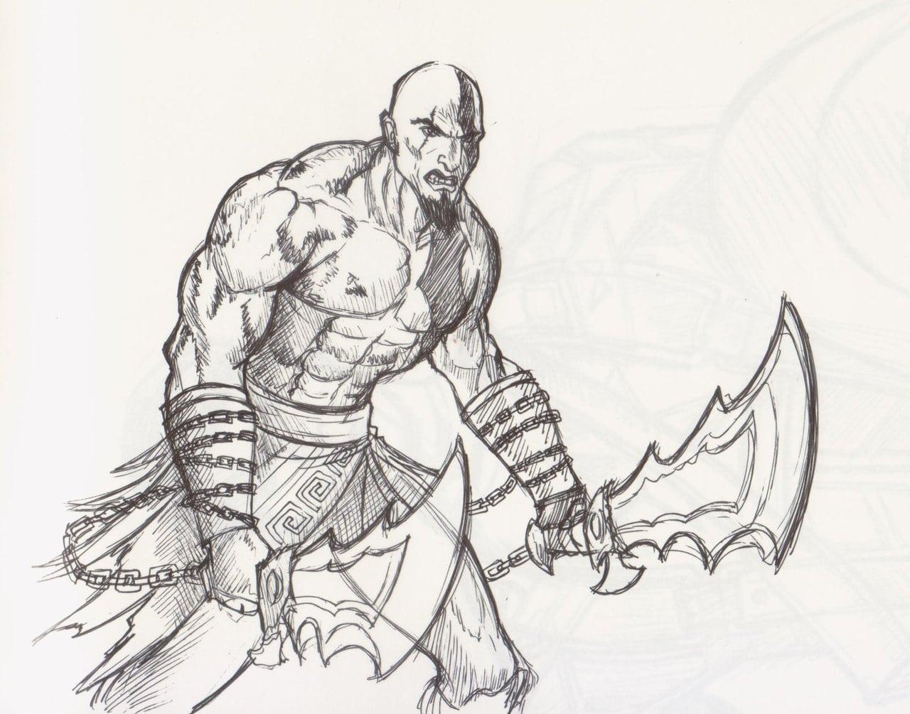 Desenhos Para Colorir Do Kratos God Of War