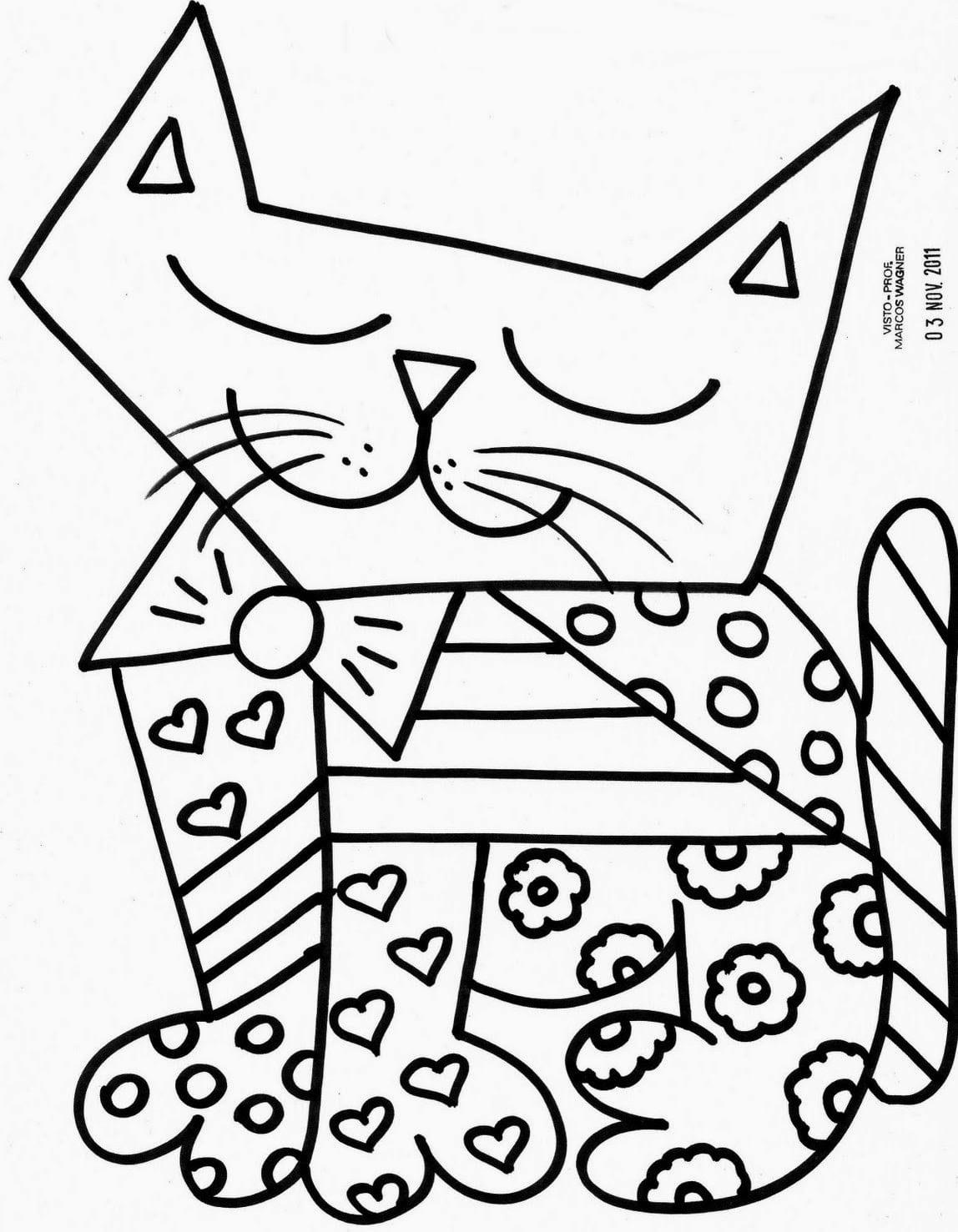 Desenhos Para Colorir E Imprimir    Desenhos De Romero Brito Para