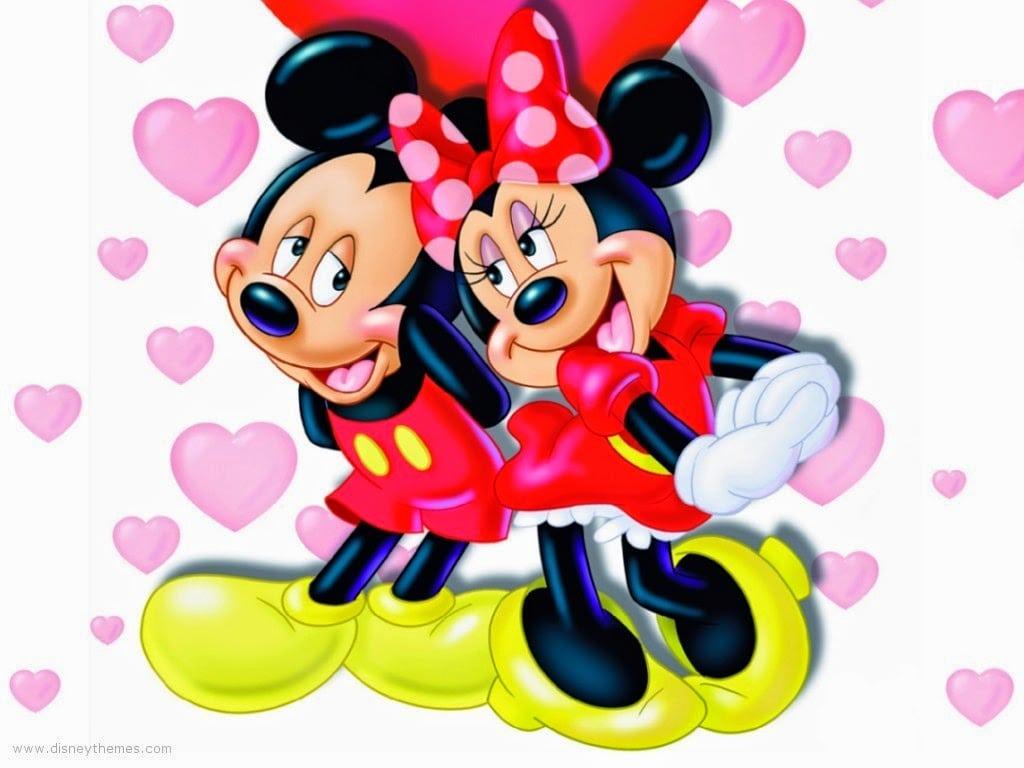 Desenhos Para Colorir E Imprimir    Mickey E Minie Para Colorir E