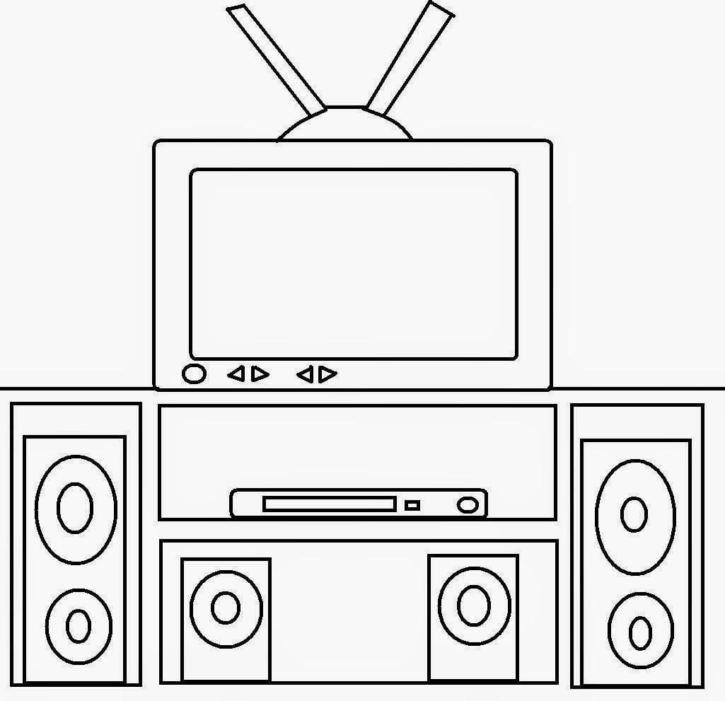 Dia Da Televisão Desenhos Para Colorir