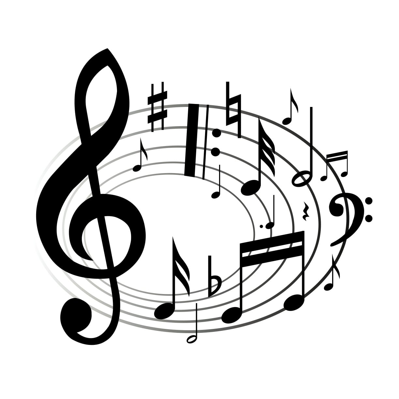 Dibujos Ideia Criativa  Desenho De Notas Musicais Colorido