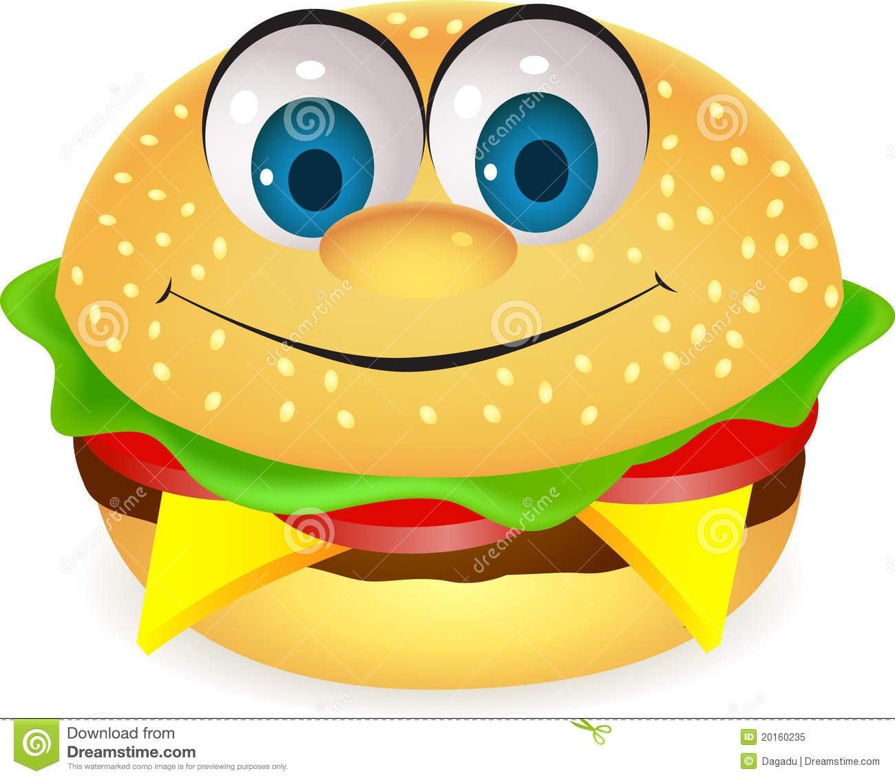 Foto De Stock  Funny Burger Cartoon  Imagem