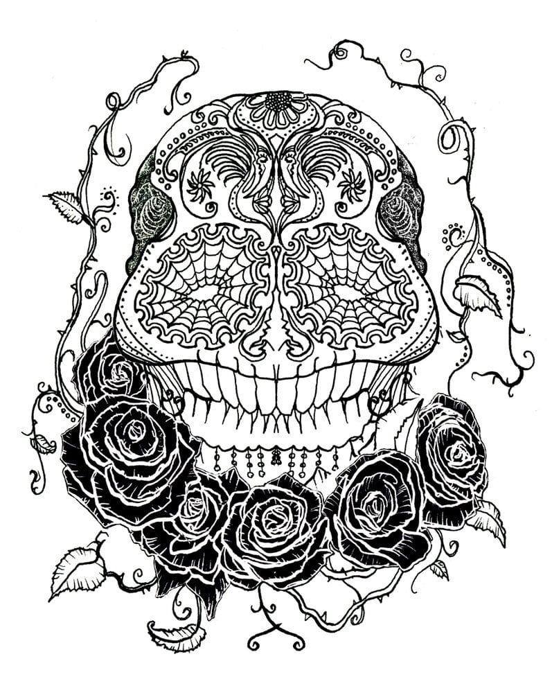 Griffe Tattoo  Tattoo Caveira Mexicana