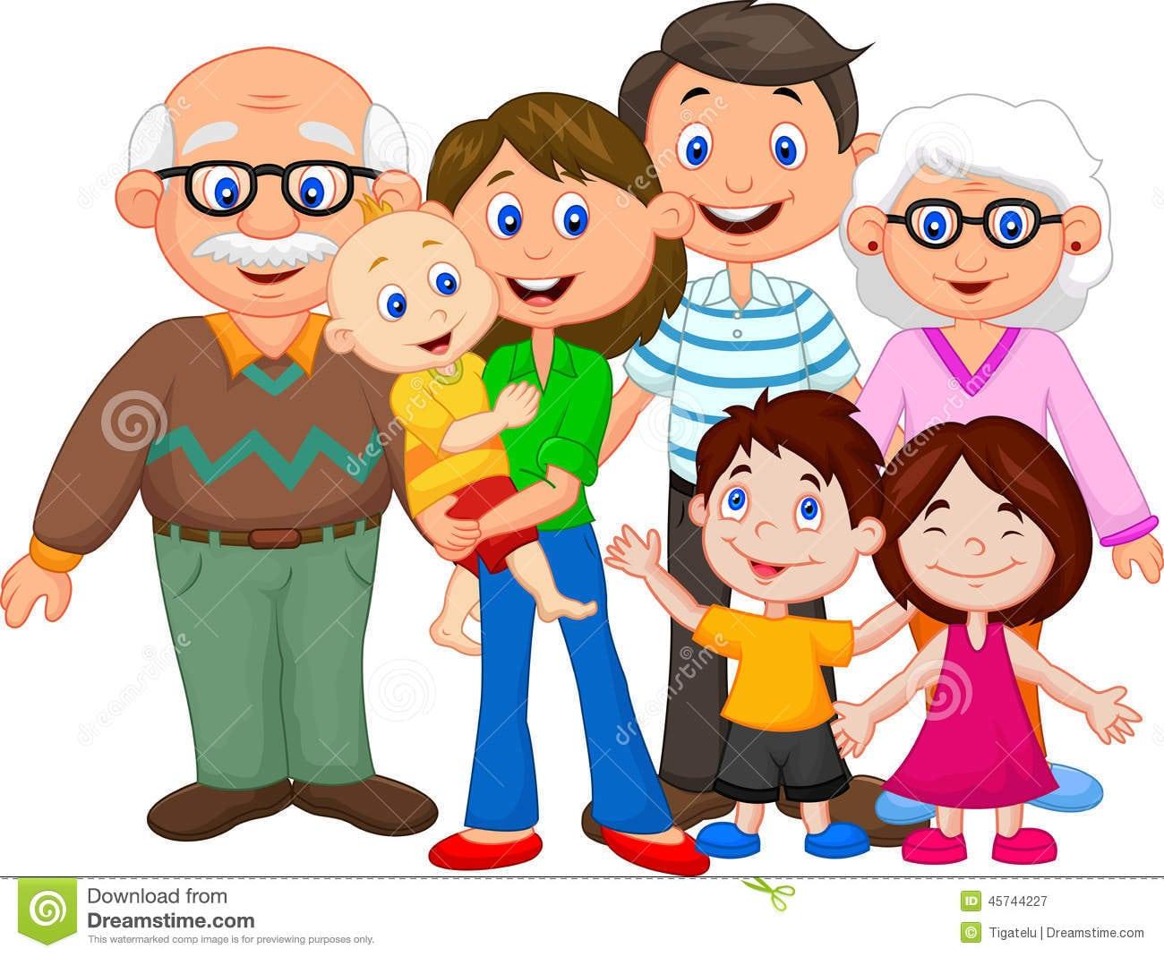 Happy Cartoon Family Stock Vector