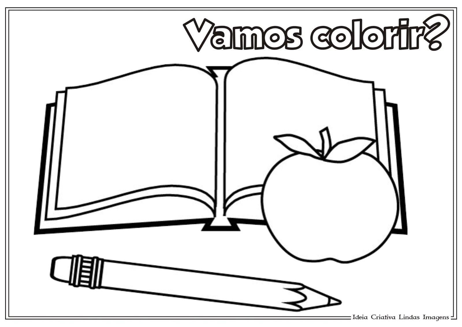 Ideia Criativa Lindas Imagens  Desenho De Material Escolar Para