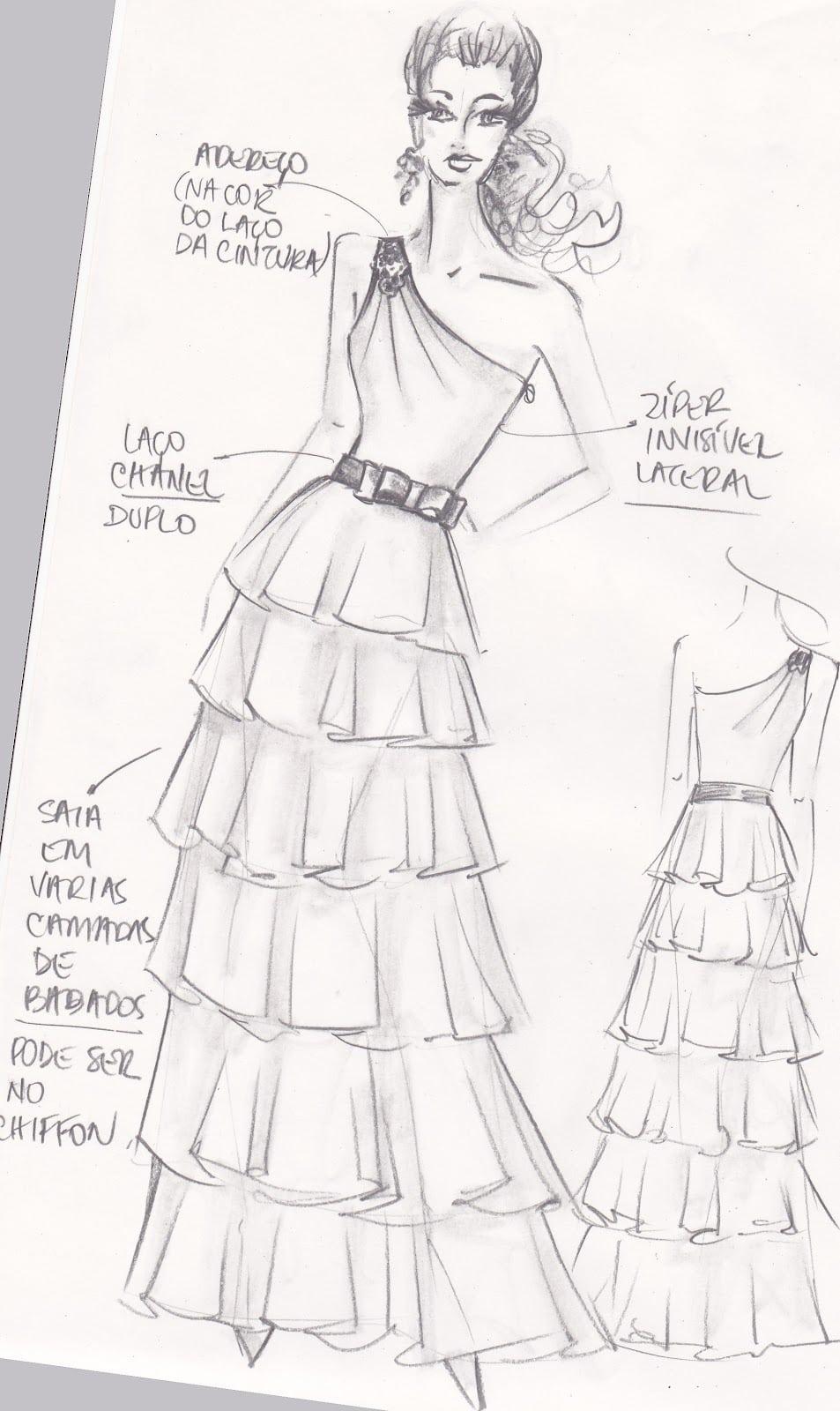 Ilustradora Cria Lindos Vestidos Com Qualquer Coisa Para Seus