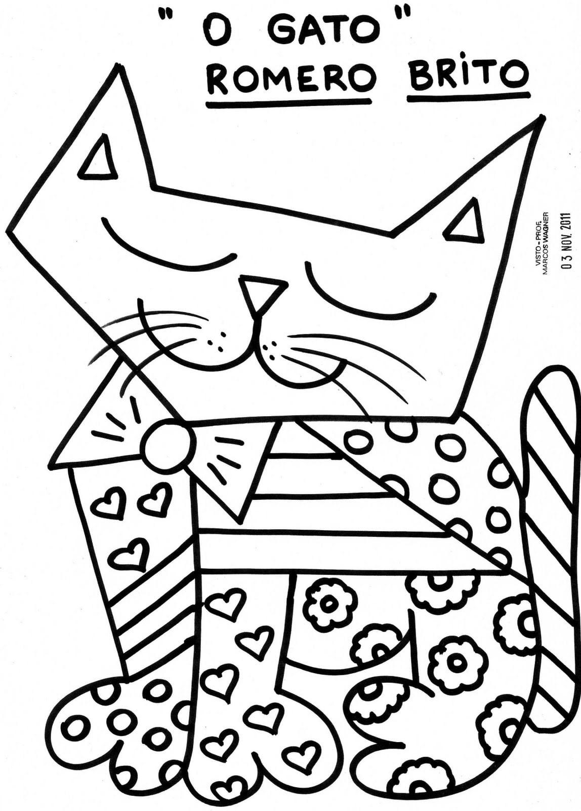Lição De Casa  Desenhos Do Romero Brito Para Imprimir