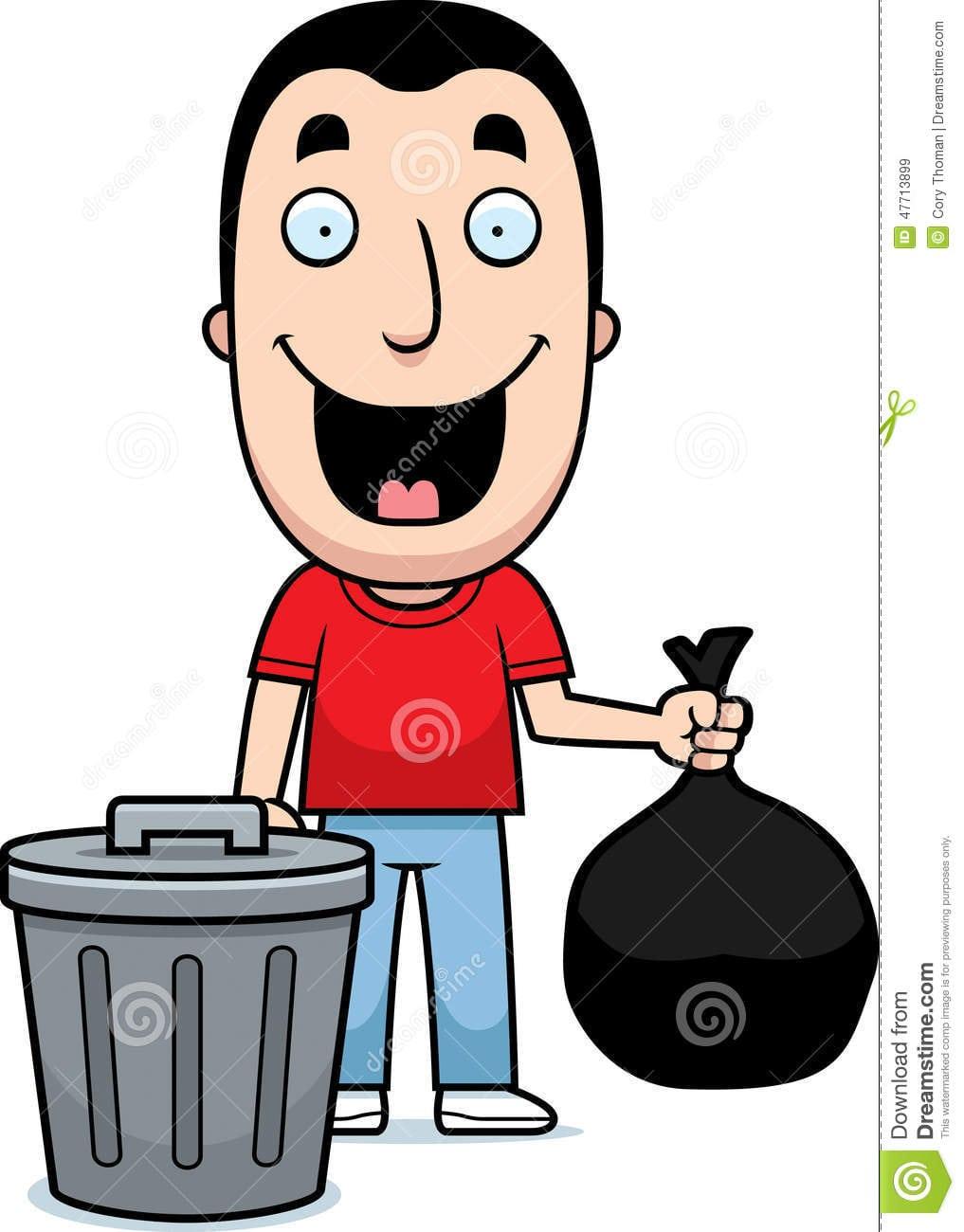 Lixo Do Homem Dos Desenhos Animados Ilustração Do Vetor