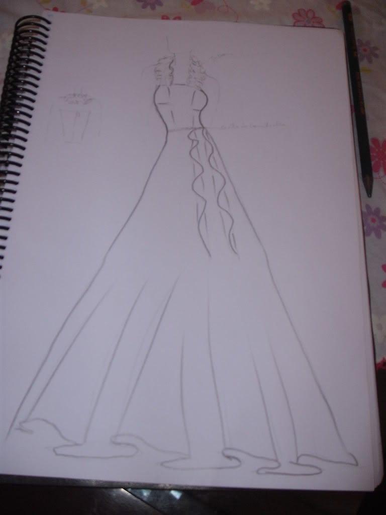Desenhos De Vestidos Longos