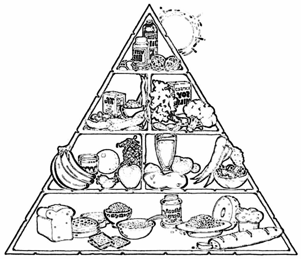 Notícias Ponto Com   Desenho Da Pirâmide Dos Alimentos Para