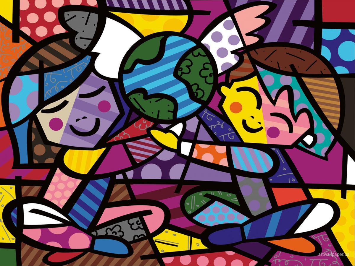 Obras De Romero Britto Para Colorir