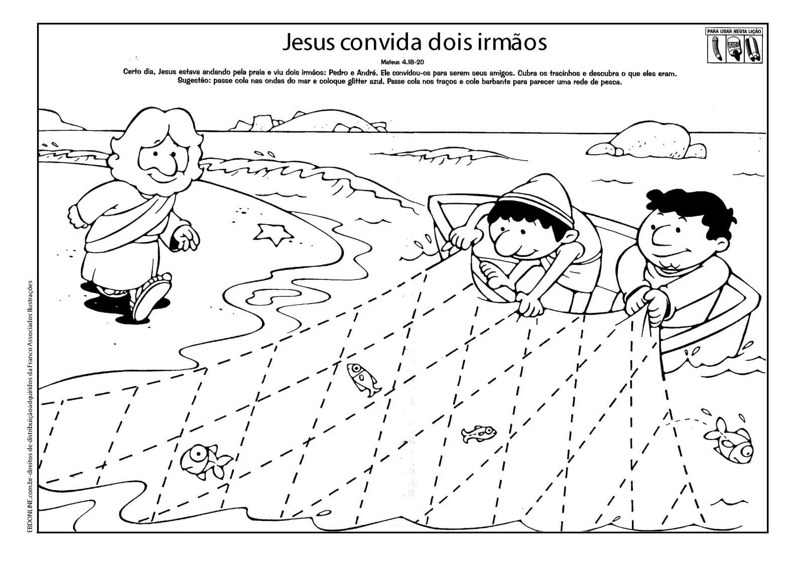 Pastor Fernando Ramos  Desenhos Bíblicos Para Imprimir E Colorir