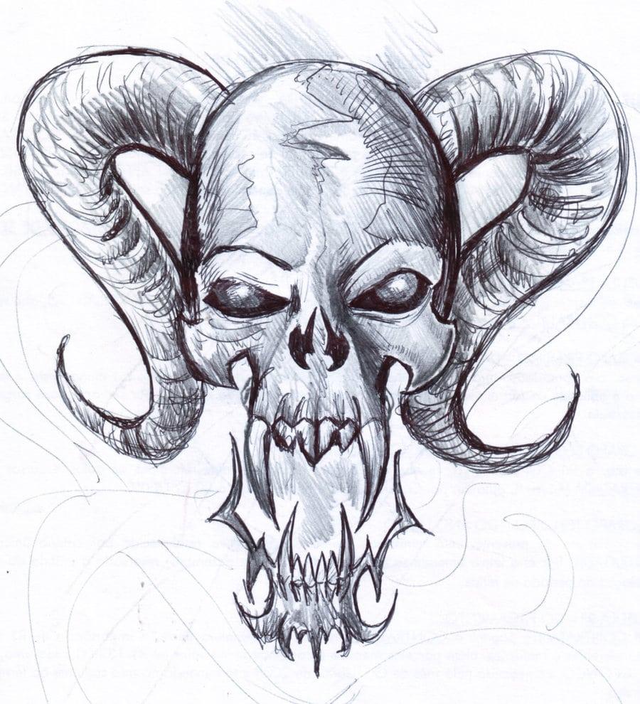 Skull_5___fast_sketch_by_penerari