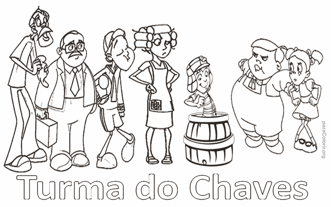 Turma Do Chaves Para Colorir — Colorir Org