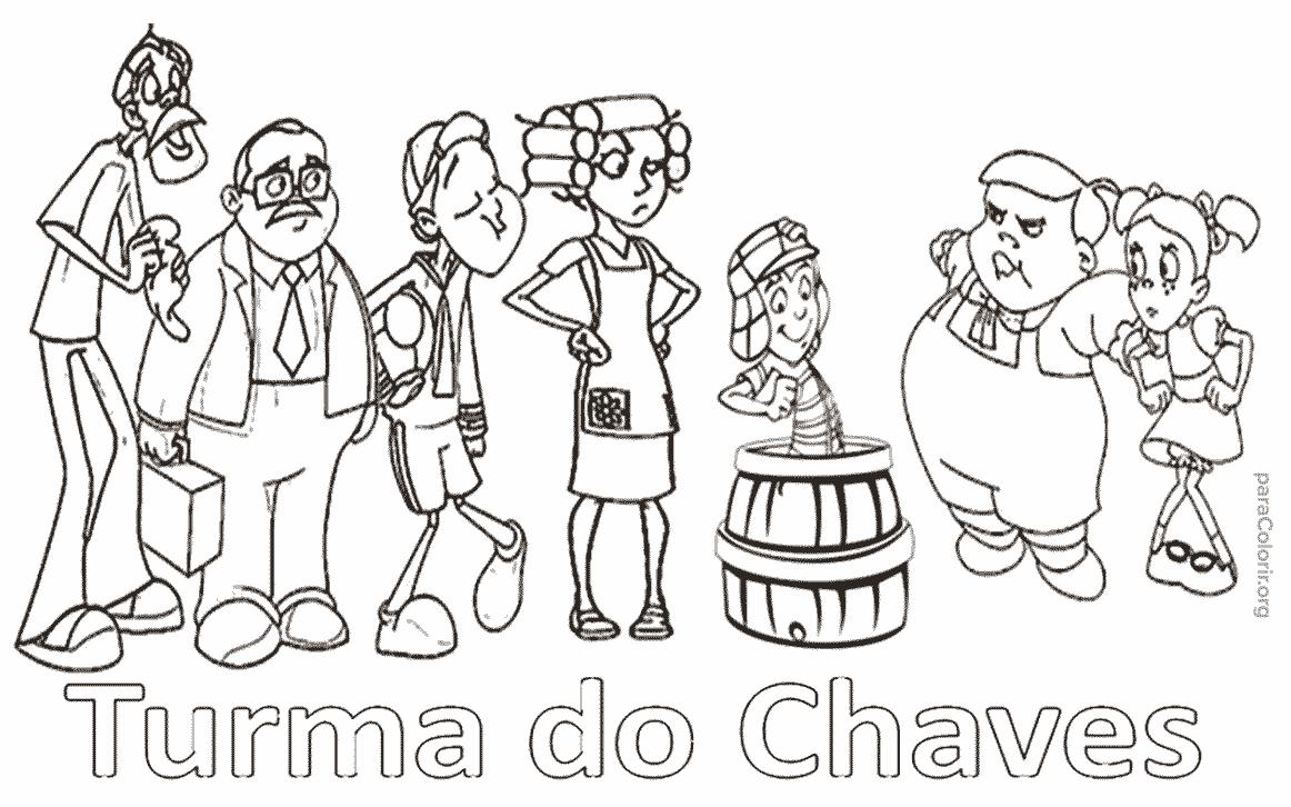 Turma Do Chaves Para Colorir — Colorir Org