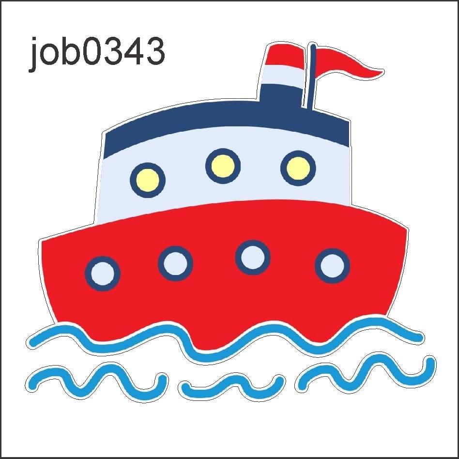 Adesivo Decorativo Marinheiro Navio Barco Desenho Job0343