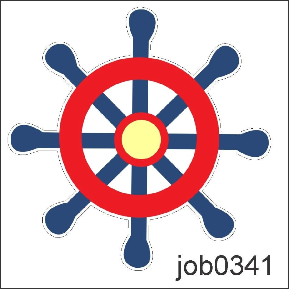 Adesivo Marinheiro Volante Barco Navio Desenho Job0341