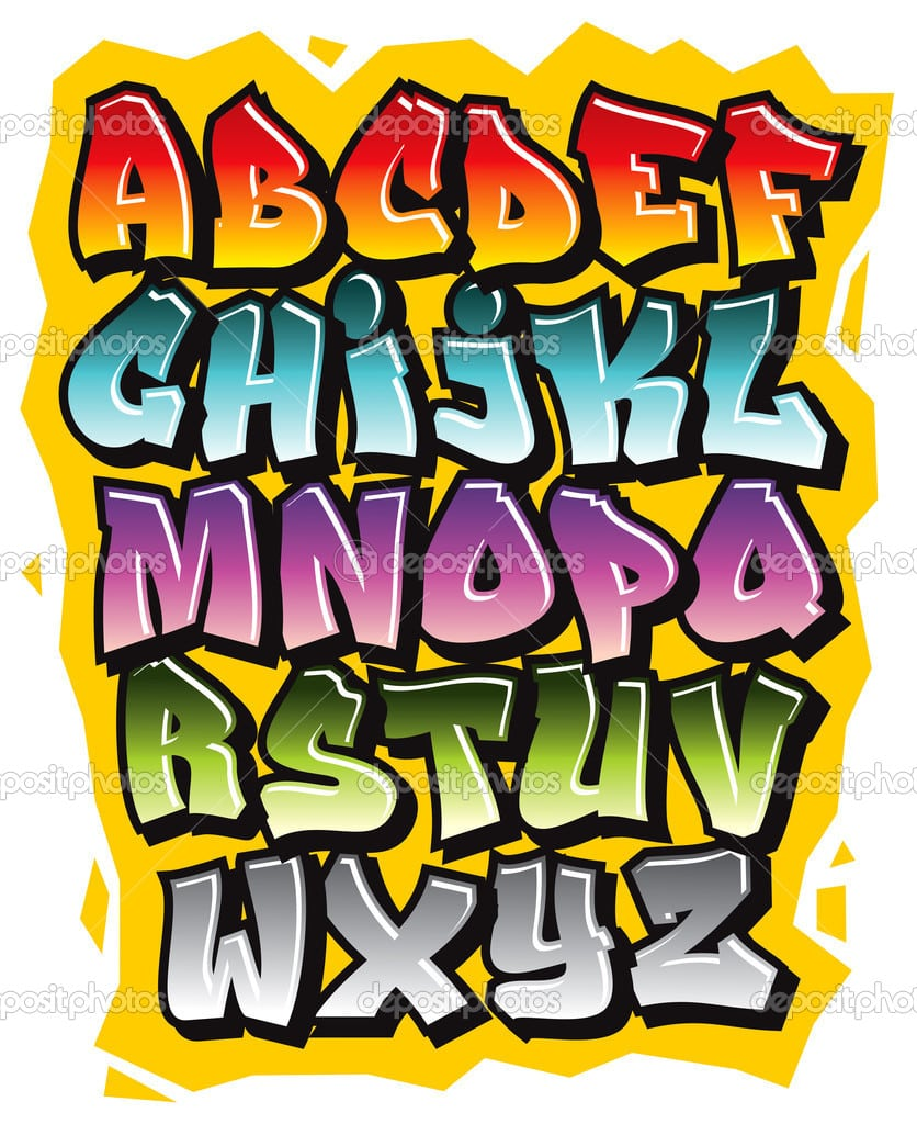 Alfabeto de grafite - L alphabet en graffiti ...
