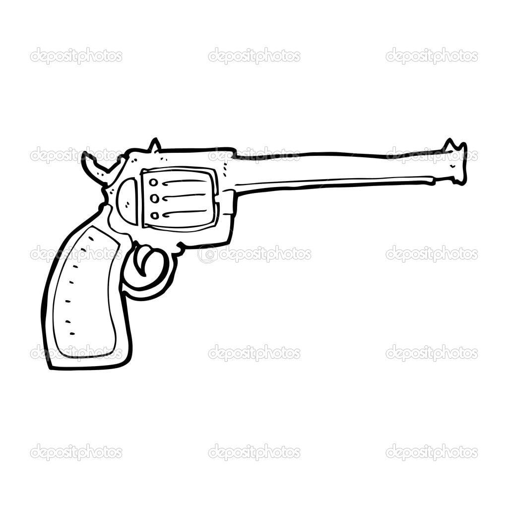 Arma Dos Desenhos Animados — Vetor De Stock © Lineartestpilot