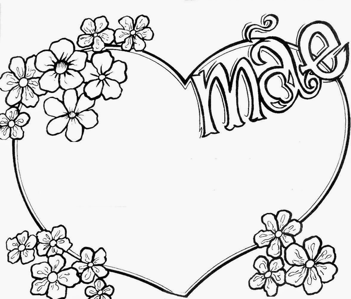 Baú Da Web  Cartão Dia Das Mães, Coração Para Imprimir Colorir