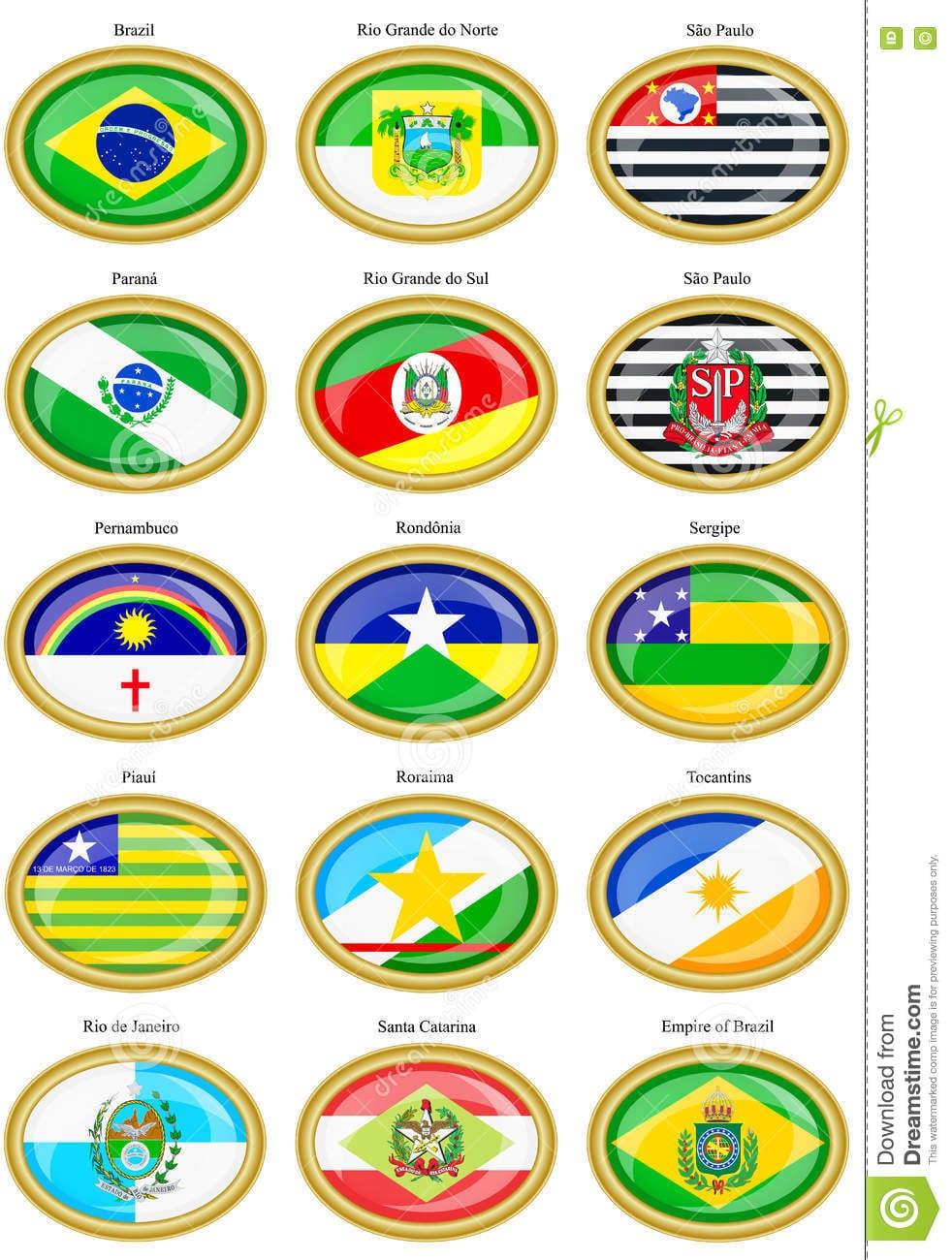 Bandeiras Dos Estados Brasileiros Ilustração Do Vetor