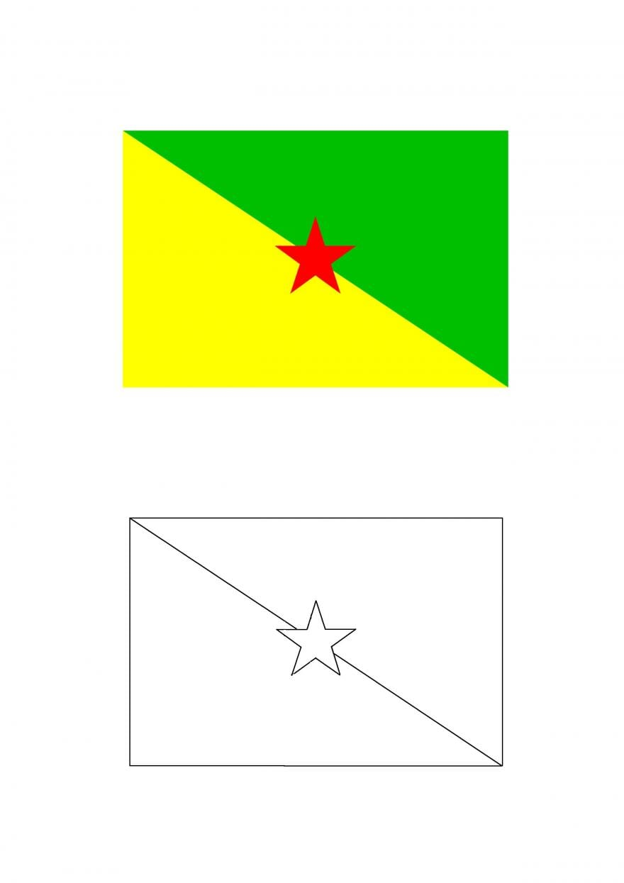 Bandeiras Para Colorir  Bandeira Da Guiana Francesa Para Colorir