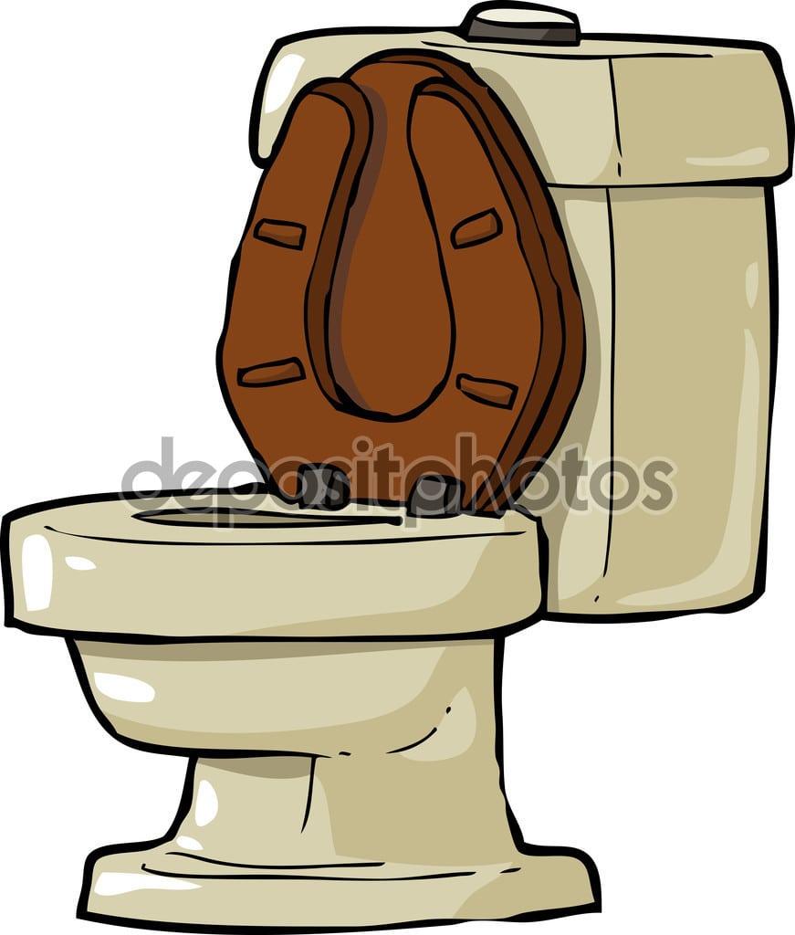 Banheiro Dos Desenhos Animados — Vetor De Stock © Dedmazay  74253283