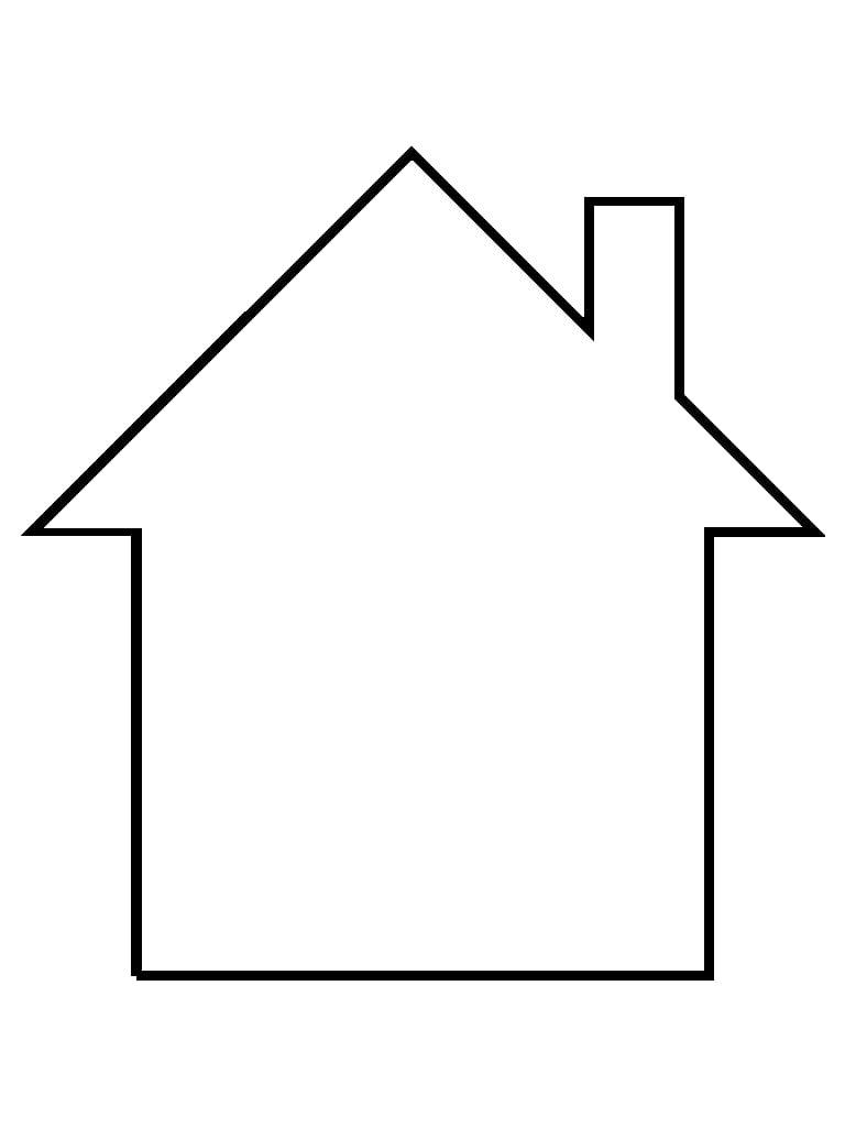 Desenho de casa para colorir - Fotos de casas para dibujar ...