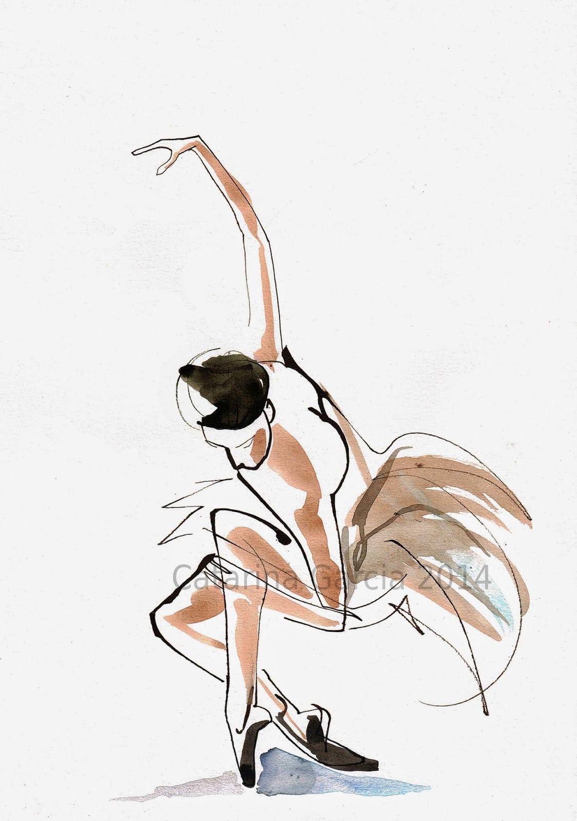 Catarina Garcia   Dance Drawings   Desenhos Dança