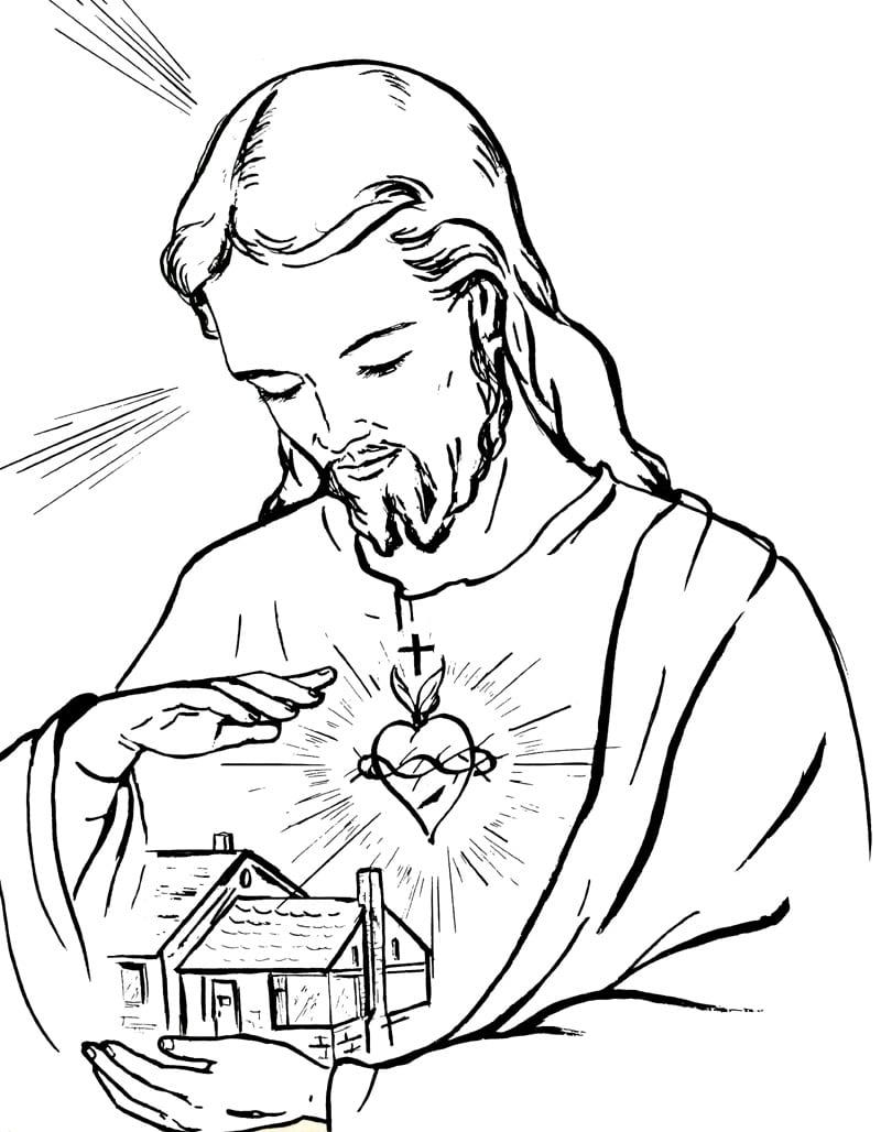 Catequese Com Carinho  Sagrado Coração De Jesus (desenhos Para